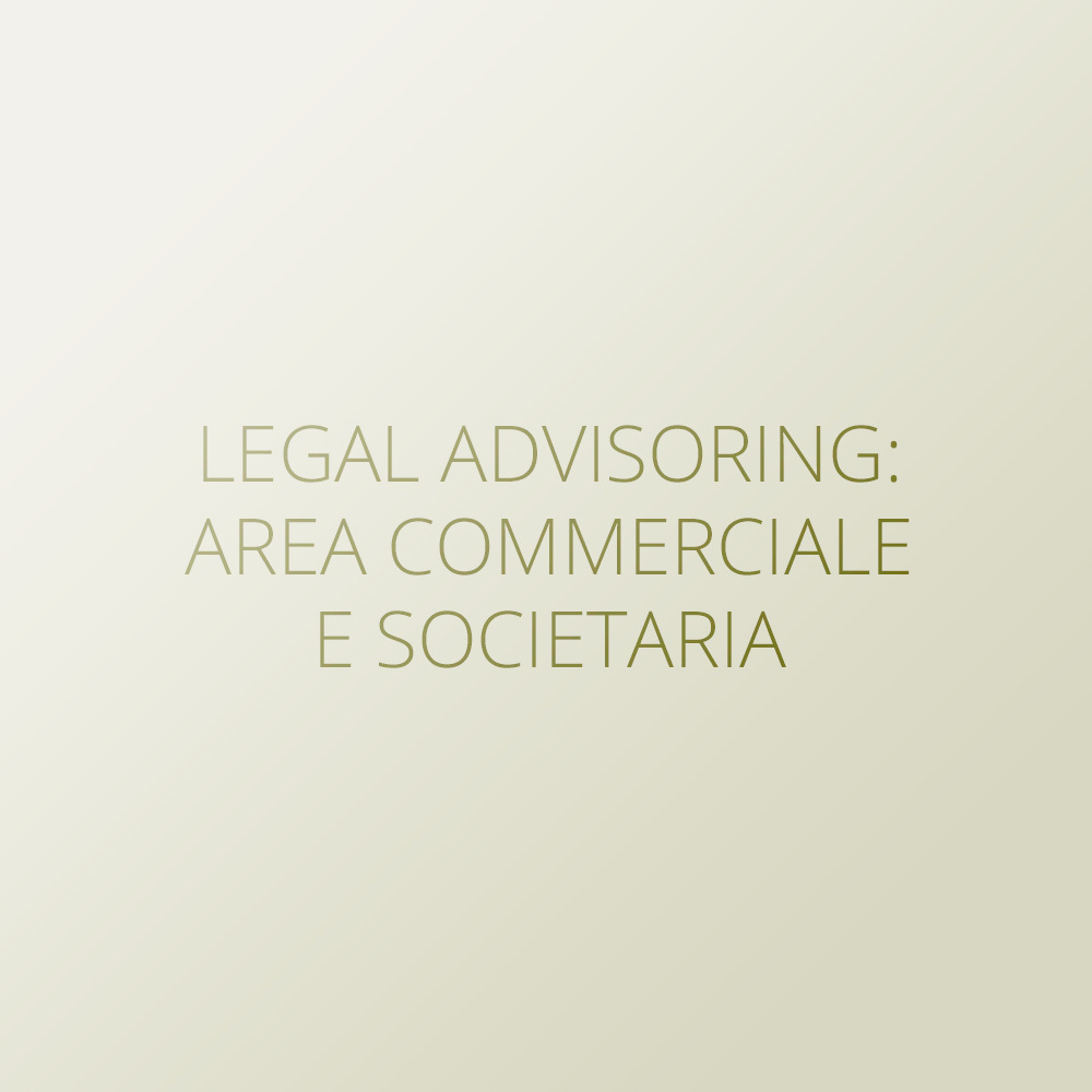 Legal advisoring: area commerciale e societaria